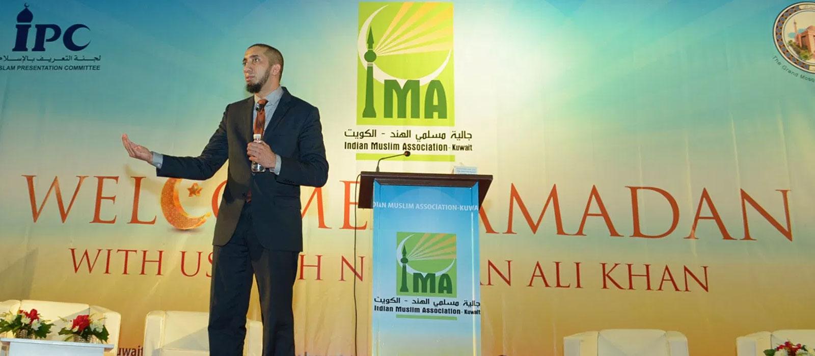 IMA hosts celebrity Nouman Ali Khan for Welcome Ramadan